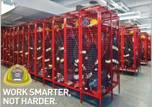 Cogan's Fire Station Gear Lockers