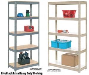 Nexel Rivet Lock Extra Heavy Duty Shelving
