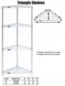 Nexel Wire Triangle Shelves